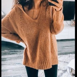 AEO Jegging Fit Oversized Wool Blend Sweater